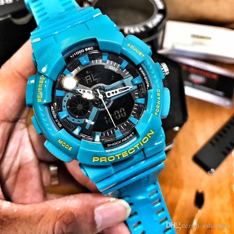 214aef30e3a Compre Esporte Mens Relógios Marca De Luxo 200 M À Prova D  água LEVOU  Iluminação 48mm De Natação Mergulho Relógio De Pulso Para Homens Melhor  Presente Com ...