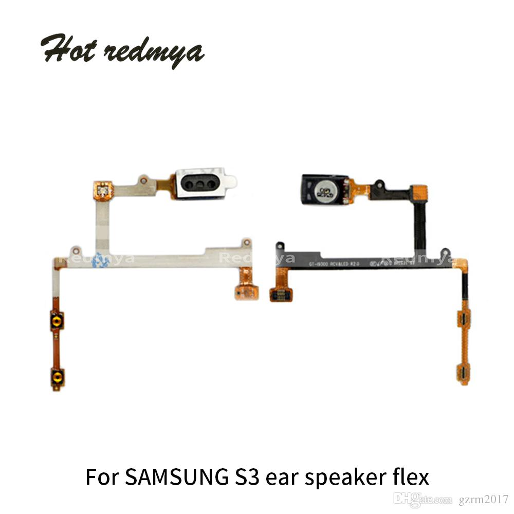 10pcs Earpiece Flex Cable For Samsung Galaxy S3 i9300 Ear Speaker Sensor Headset Sound Earphone Flex Phone Replacement Parts Free Shipping