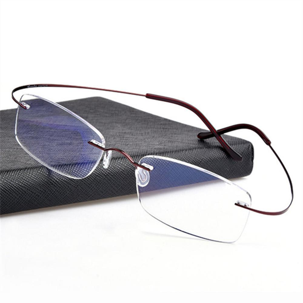 94e1be4bb2b5 2019 Rimless Titanium Eyeglasses Frames Men Flexible Optical Frame  Prescription Spectacle Frameless Glasses Women Eye Glasses From  Marquesechriss