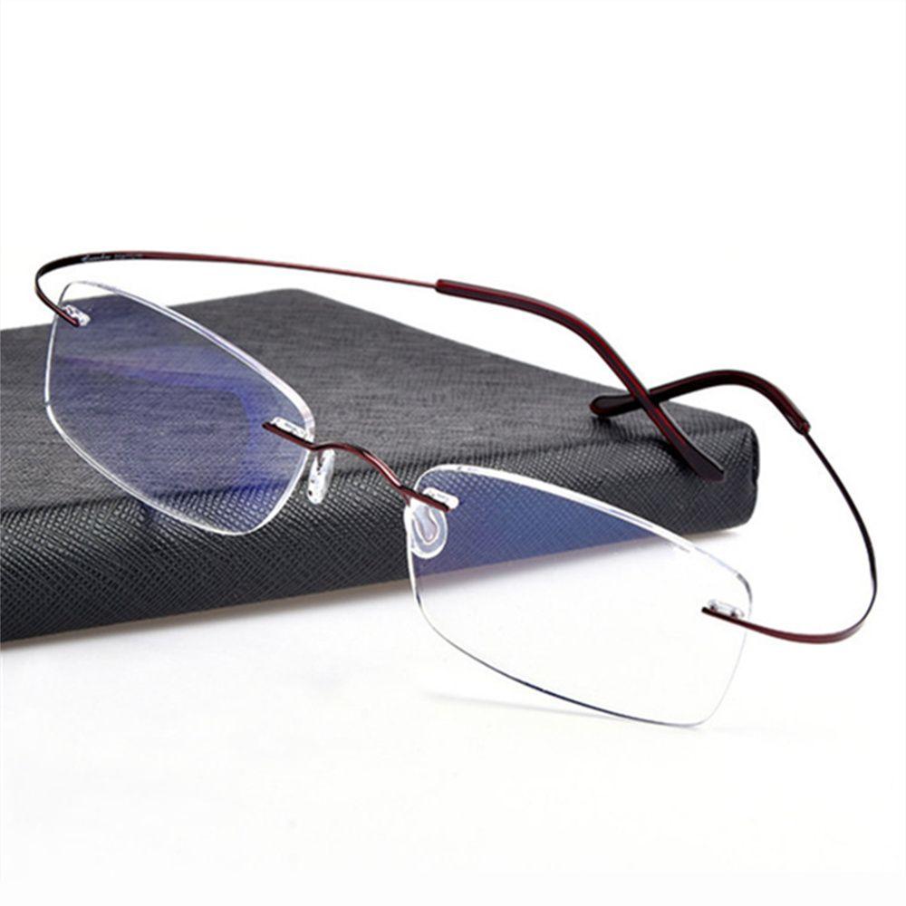 40448f9284a6b Compre Sem Aro De Titânio Armações De Óculos Homens Quadro Óptico Flexível  Prescrição Espetáculo Óculos Sem Aro Mulheres Óculos De Marquesechriss, ...