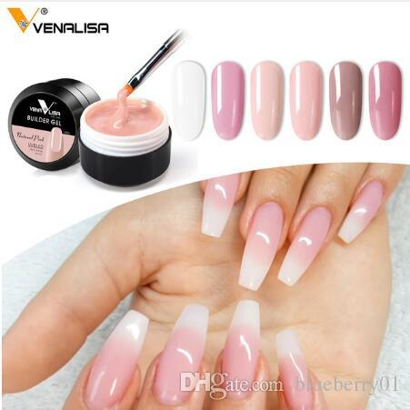 Clear Extending Nail Gel 15 Camouflage Colors 10 Semi-Transparent 10 Colors  Nail Salon UV Soak Off Builder Gel 15ml