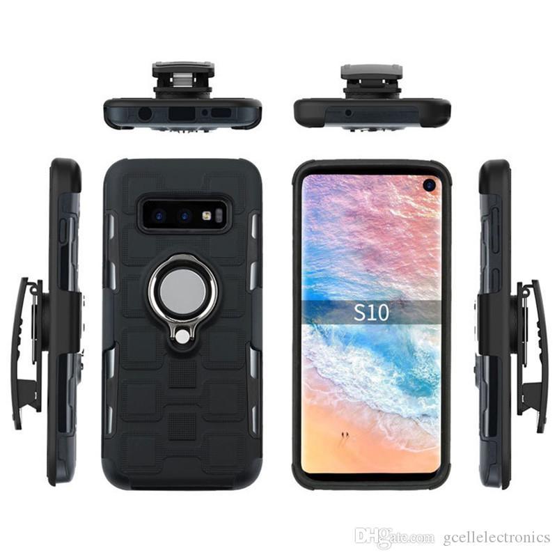 82f7fa9268a Protectores Para Celulares 3 En 1 Funda Clip Pistol Holster Cell Pone Casos  Para Iphone XS Samsung Galaxy S10 A50 Moto G7 Potencia Anillo Titular De  Anillo ...