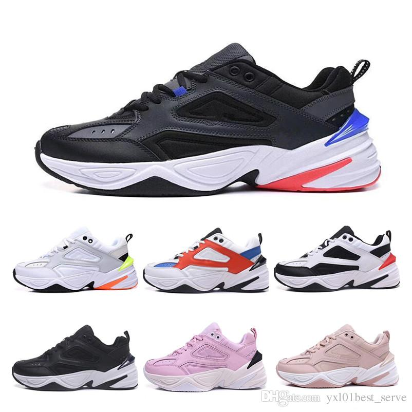 bb54069d4a56 2018 Cheap Sale Monarch The M2K Tekno V2 Pink Foam Running Shoes High  Quality Dad Sneakers For Men Women Fashion Trainers Sneakers 36 44 Running  Spikes ...