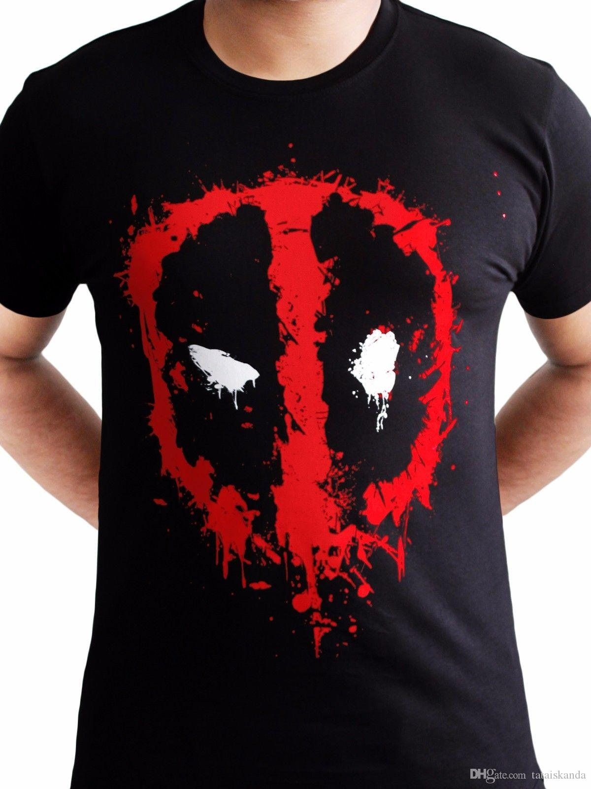 003ed7d4 Deadpool Face Logo Splat Marvel Official Movie X Men Avengers Black Mens T  Shirt Printed T Shirts Funny T Shirt Over Shirt From Tataiskanda, $10.36|  DHgate.