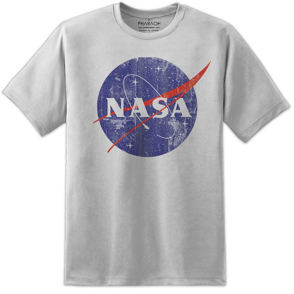 02962e46ed NASA Retro Distressed Space Logo T Shirt Vintage Mens Kids Awesome Quality  Print Summer Men'S fashion Tee custom printed tshirt,