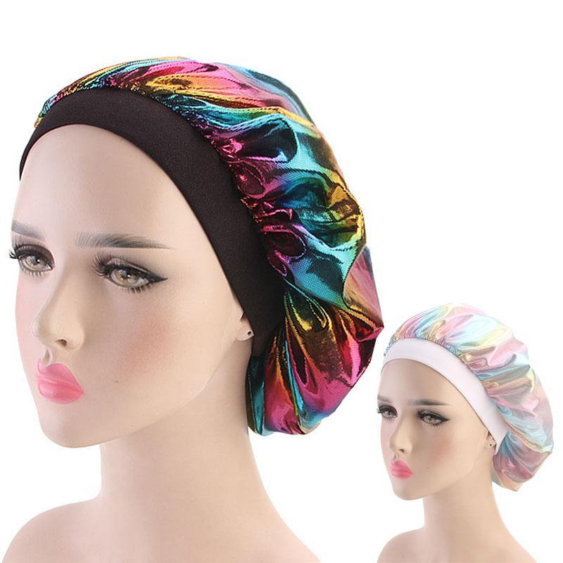 613af6635a9 Muslim Women Durag Wide Stretch Silk Satin Breathable Bandana Sleeping Turban  Hat Headwrap Bonnet Chemo Cap Hair Accessories Hair Accessories Cheap Hair  ...