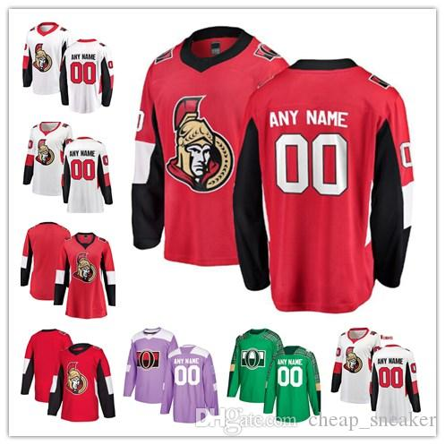cheap for discount 61b62 4ea1c Custom Ottawa Senators 15 Zack Smith 95 Matt Duchene 65 Erik Karlsson any  name any number mens women youth stitched hockey Jersey
