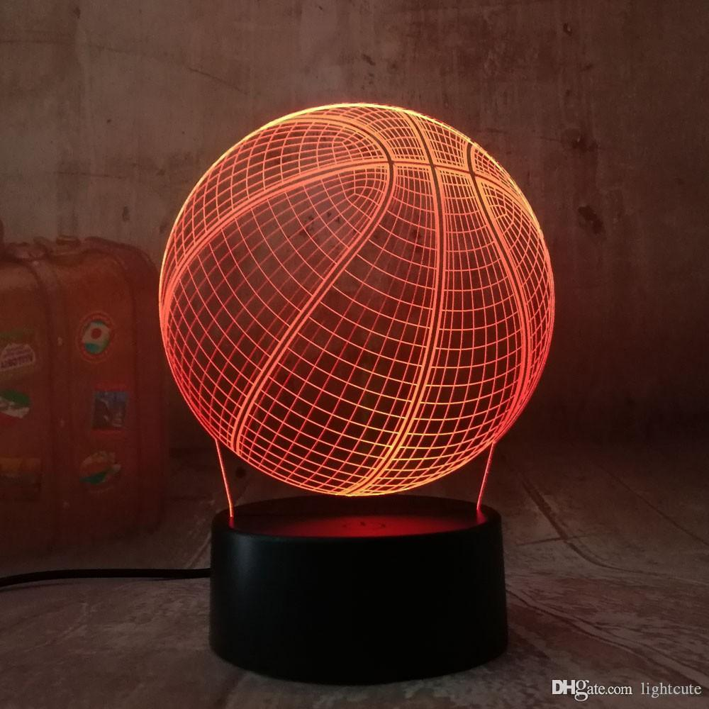 2020 Cool 3D Basketball Sport Home Decoration LED Illusion