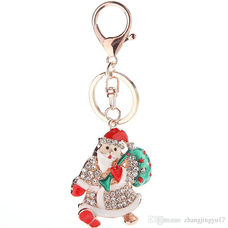 Christmas Snowman Key Chain Christmas Gift Metal Bag with Sweet Girl ... 509822c8a050