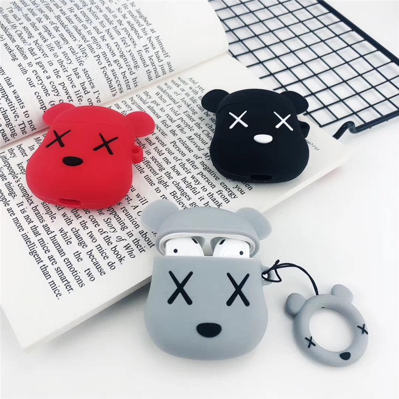 Custodia auricolare Cartoon per Airpods 1 Custodia protettiva Auricolari skin per Airpods 2 Custodie Custodia Cute Pattern per Airpods