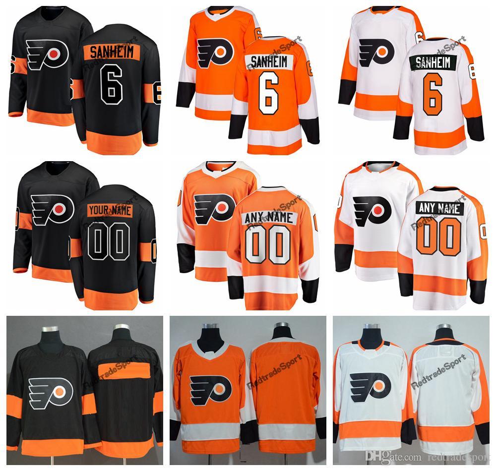 2019 Philadelphia Flyers Travis Sanheim Hockey Jerseys Mens Custom ... 9585296ea