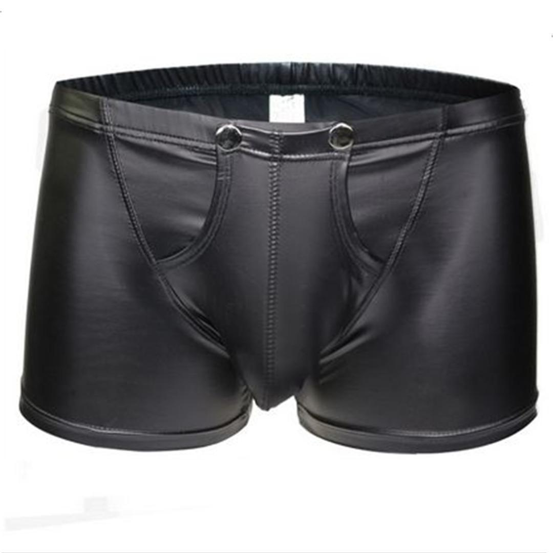 dc0a4f78df 2019 Men Trunks Sexy Patent Leather Underwear U Shape Bulge Boxer Briefs  Shorts Pouch Soft Underpants From Vikey13, $39.22 | DHgate.Com