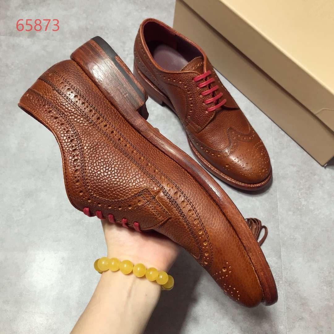 d3074cb0f450 European And American Fashion Vintage Bullock Leather Sole