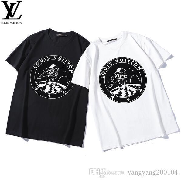 c55e47557a83 19ss Spring And Summer Luxury Europe Paris Galaxy Astronaut T Shirt Fashion  Men S Women S Cool T Shirt Casual T Shirt Latest T Shirt Design T Shirt  Shopping ...