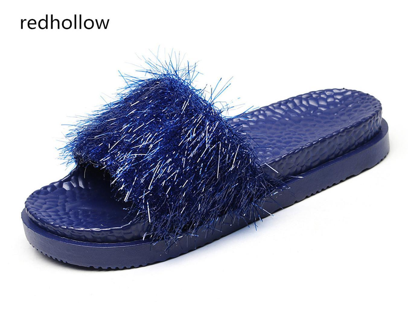 46bcf189bfbd Fashion Women Slides Summer Slippers Platform Beach Sandals Flip Flips Ladies  Flat Heel Shoes Slippers Bling Women Home Girls Shoes Bearpaw Boots From ...