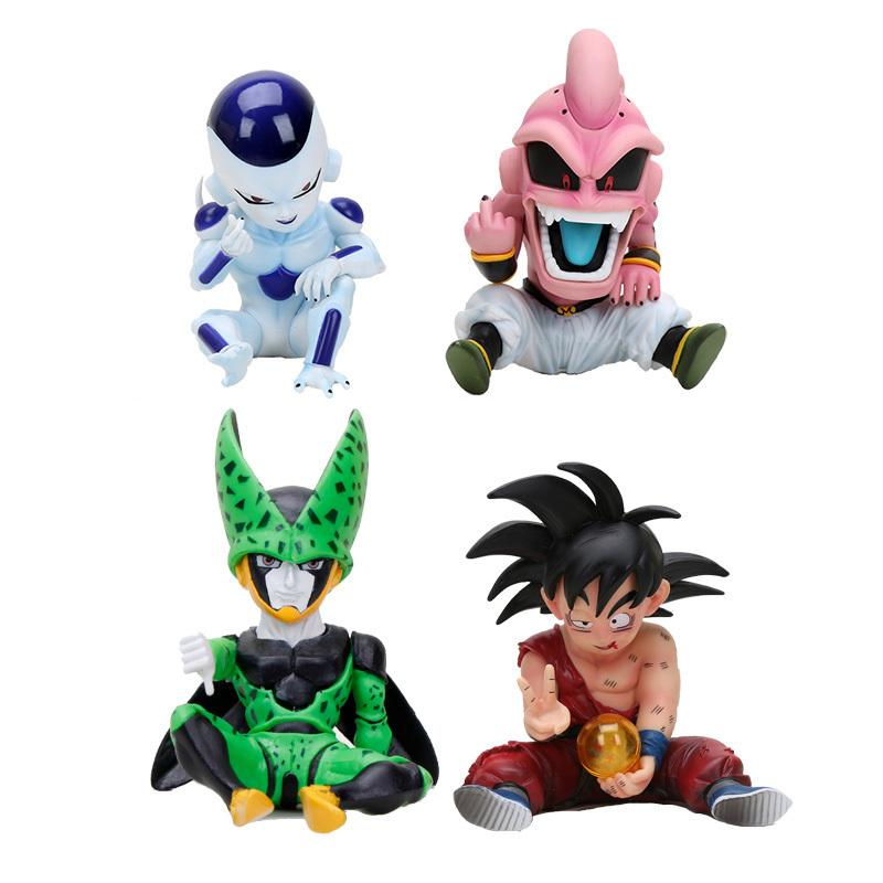 Dragon Ball Z Majin Lamp Kid Buu Gk Frieza Love Action Figure Toy Doll Brinquedos Figurine Collection Dbz Model Gift Y190529