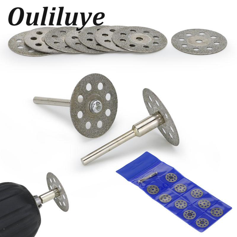 12PCS 20/22/25mm Dremel Accessories Diamond Grinding Wheel Circular Saw Cutting Disc Diamond Abrasive Disc Dremel Rotary Tool