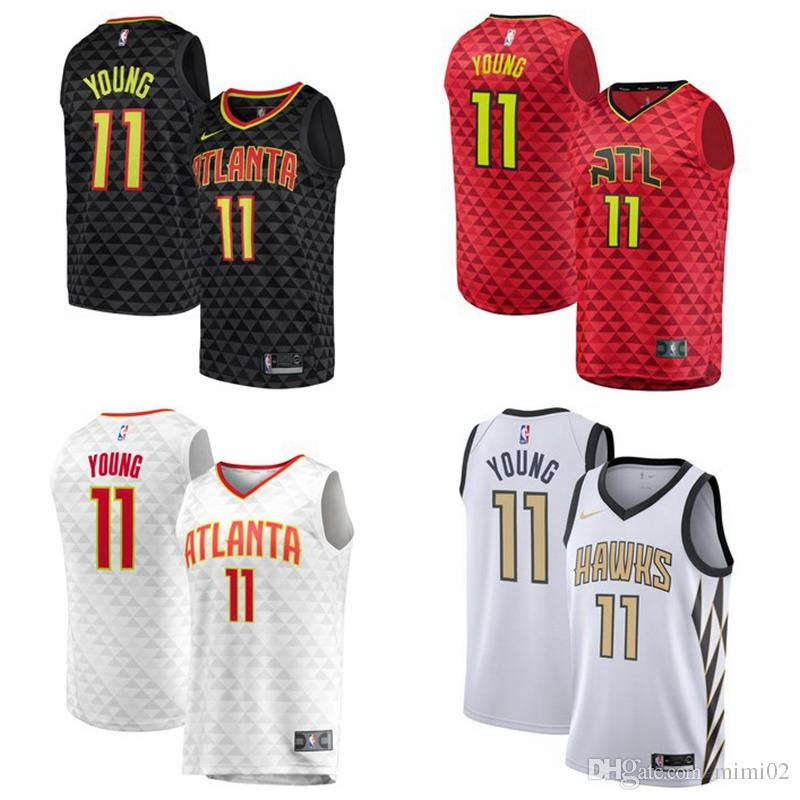 wholesale dealer b840c 4aa29 2019 Atlanta Cheap Lowest Price City Hawks Edition Swingman Hawks Jersey  Trae Young White Mens Shirt S-3XL