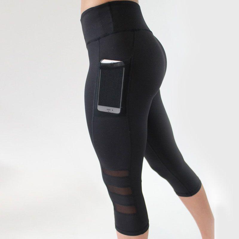 da1a11a5a9 Women Sport Leggings Yoga Pants Calf Length Pants Gym Fitness ...
