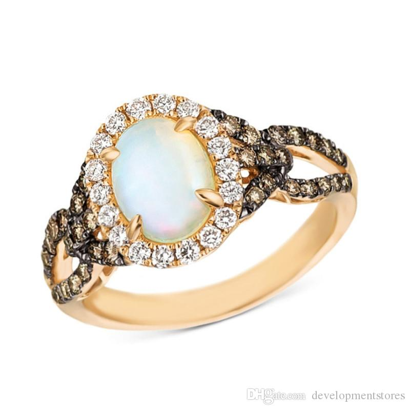 Europe and America hot selling Synthetic moonstone Alloy rings for women Lady Girls party jewelry Wedding Engagement ring Anel