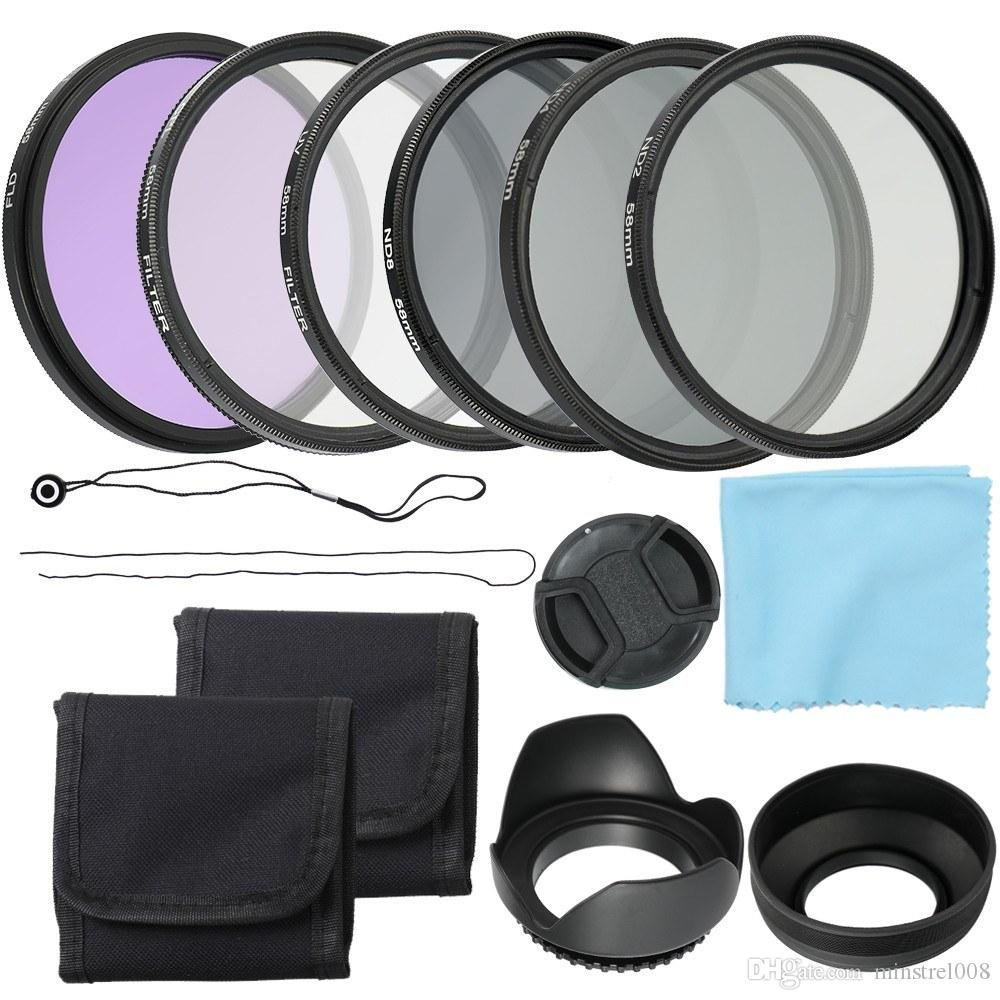 Accessories Camera Filters 52mm 58mm Lens Filter Kit UV+CPL+FLD+ND with Carry Pouch / Lens Cap / Tulip