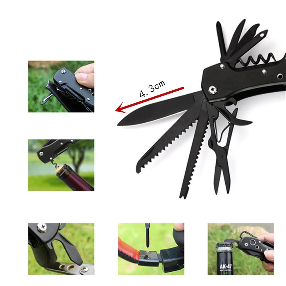 10in1 MultiTools plier Knife Cutter Outdoor Camping Multifunction Conbination edc hand Tool Folding Survival gear Hand knife tools