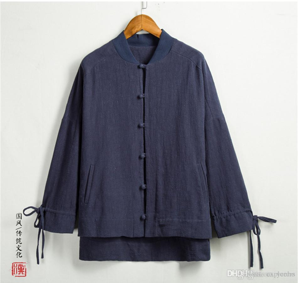 d819290c9 Traditional Chinese Tang Jacket Winter Cotton Linen Cloth Tang ...