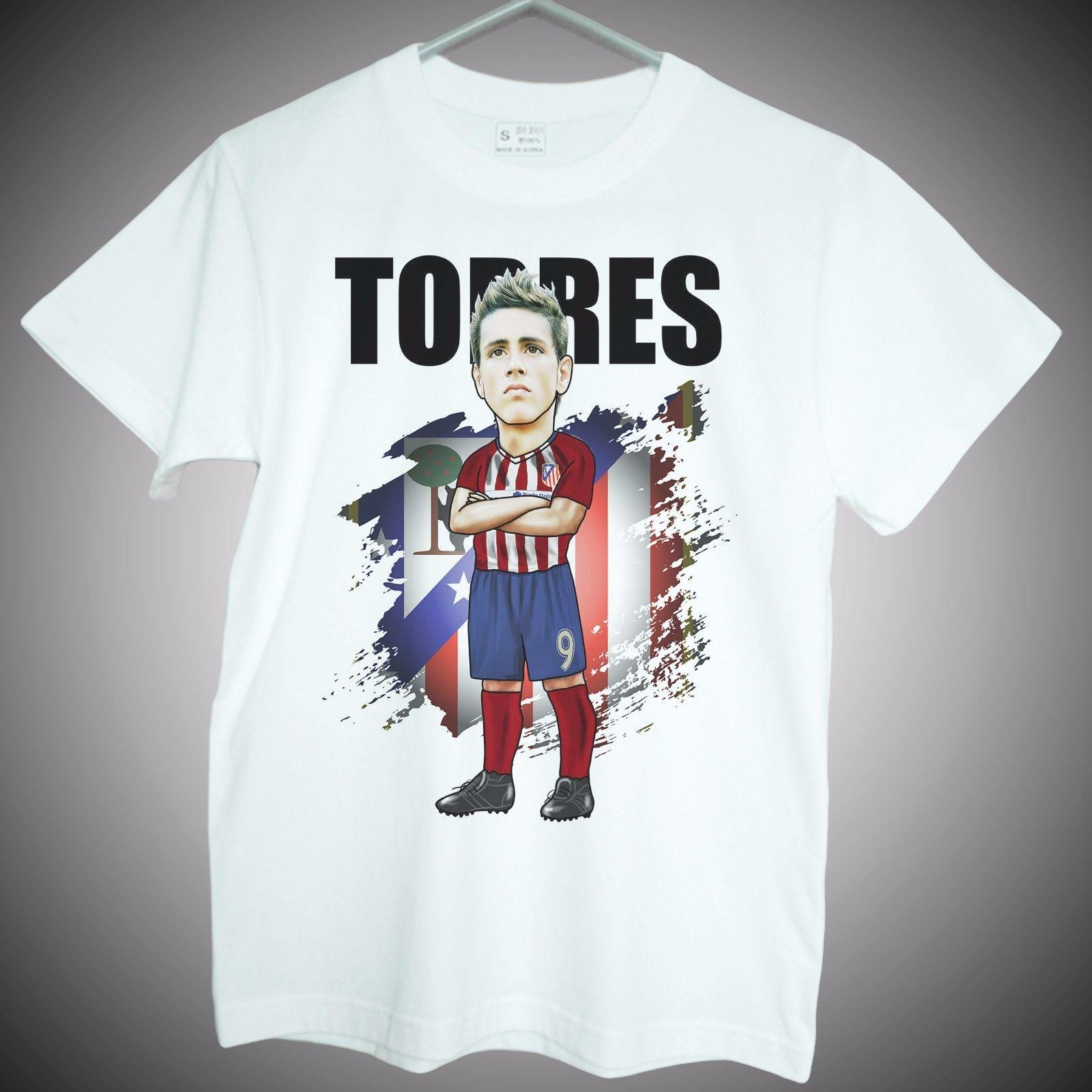 f48d26b59a1 Fernando Torres T Shirts Madrid Atletico Spain Soccer Graphic Mens Fans  Gifts Mens 2019 Fashion Brand T Shirt O Neck 100%cotton T Shirts Cool  Designs ...