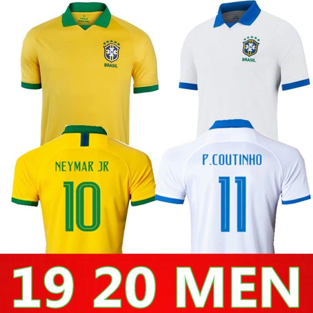 85fae45b7 2019 19 20 Brasil Soccer Jerseys Men Brazil Jersey 2019 2020 JESUS COUTINHO  FIRMINO MARCELO Football Kit Shirt Camisa Football Shirt From Ztsports