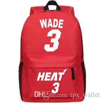 Dwyane Wade Backpack D The Flash Daypack Basketball Star Schoolbag Cool  Print Rucksack Sport School Bag Outdoor Day Pack Laptop Backpack Backpacks  For Girls ... 85a9a49cc88d7