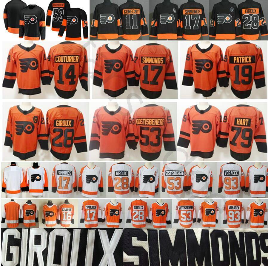 2019 2019 Stadium Series Philadelphia Flyers Jerseys 79 Carter Hart 14  Couturier 28 Claude Giroux 17 Simmonds 19 Patrick 53 Shayne Gostisbehere  From ... 371ba54cf