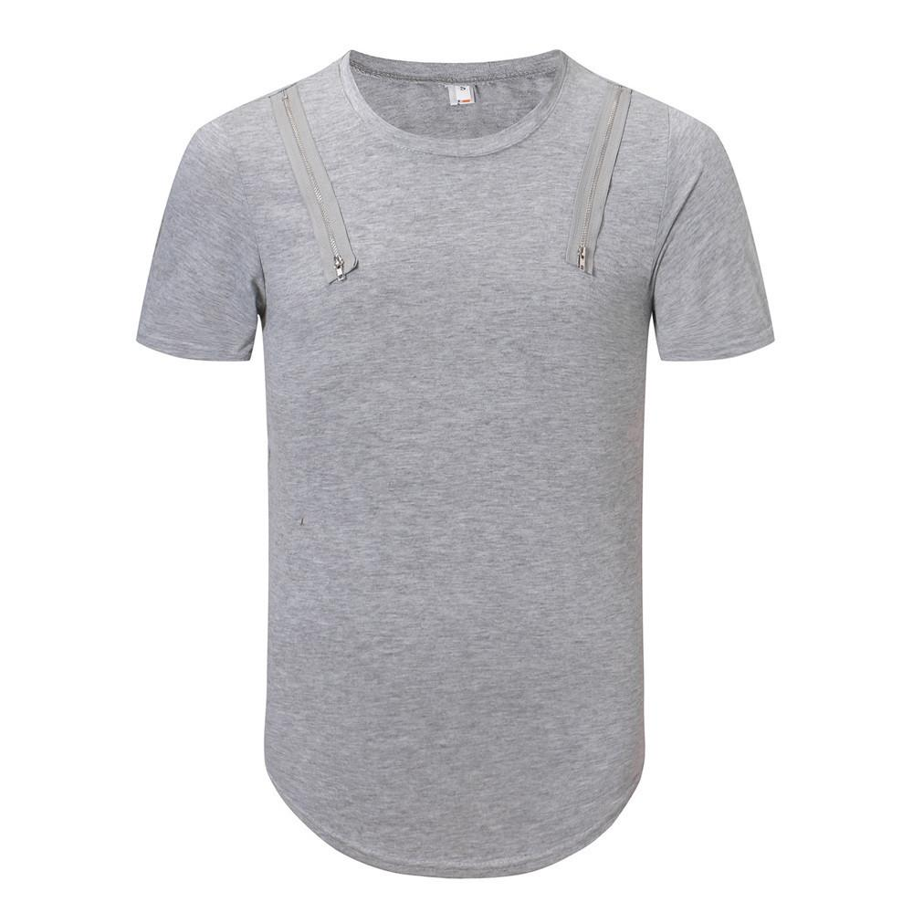 614f52310633 2019 New Trendy Men T Shirt Funny Fashion Trend Personal Band Short Sleeve T  Shirt Of Men Pure Color Mens Clothing Tops & Tees All That Tshirt Cool Tee  ...