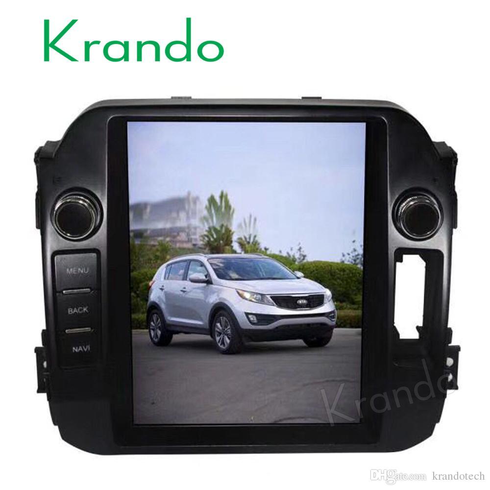 Krando Android 7 1 10 4 Vertical tesla big screen for kia sportage 2010  2011 2012 2013 2014 2015 car DVD navigation system radio
