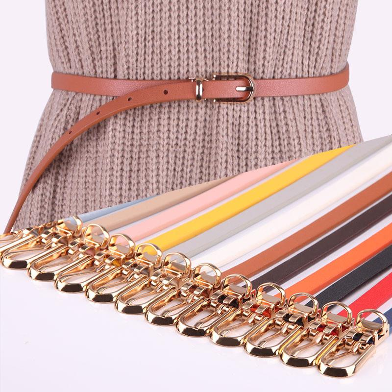 bbe2f5fc4 Women Faux Leather Belts Candy Color Thin Skinny Waistband Adjustable Belt  Women Dress Strap Cinturon Mujer Cinto Feminino Karate Belt Han Solo Belt  From ...