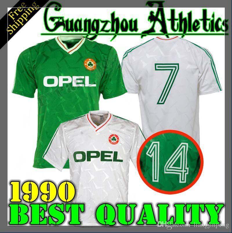 b2e9f95076b0 2019 1990 1992 Ireland Retro Soccer Jersey 1990 World Cup Ireland Home  Classic Jersey Vintage Irish Sheedy Size S XXL Football Shirts From  Tomato 2019