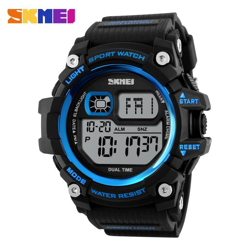 8946e3691416 Compre Nuevo 2017 Hombres Led Relojes Digitales Cronógrafo Multifunción  Reloj De Deporte Al Aire Libre 50M Agua Resistente A Choques Relojes De  Pulsera Para ...
