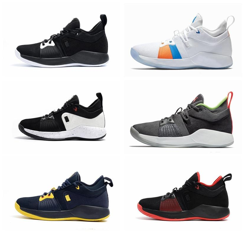 new arrival 2fa32 0bba8 Drop Shipping Paul George 2 PG II Mens Basketball Shoes PG2 2S Starry Blue  Orange All White Black Sports Sneakers Shoes