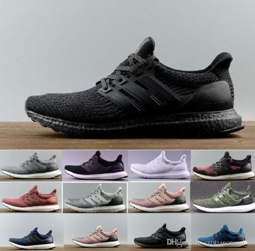 dde5a6bf26133 2018 New Ultra Boost 4.0 Running Shoes Triple White Black Grey Men 3.0 Blue  Oreo Casual Shoes Ultra Boosts Uncaged Sports Sneakers 40 45 Oxford Shoes  Tennis ...