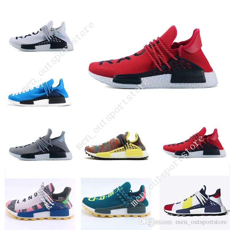 6ea6255d6f6520 Cheap Cheap Sale NMD Human Race NERD Homecoming Afro Hu Solar Pack Men  Running Shoes Pharrell Williams HU Trainers Men Sports Sneaker Zapatos Shoe
