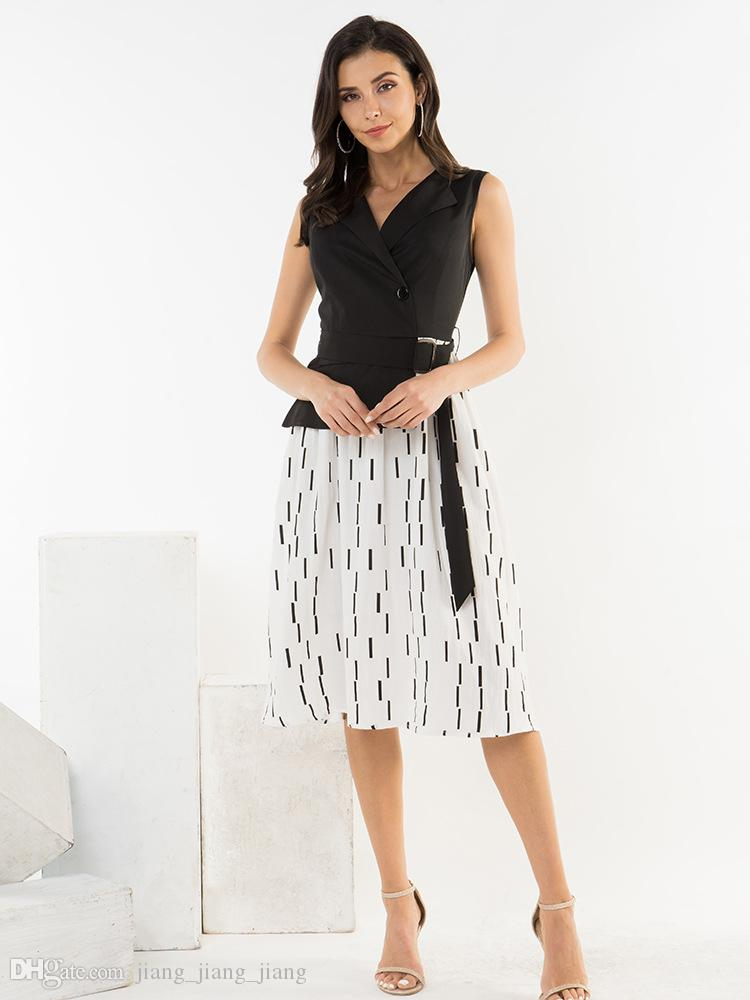 3d12fc37ccdbb Satın Al Amerika Yaz Moda Kadın Giyim Kolsuz Polo Yaka Flora ...
