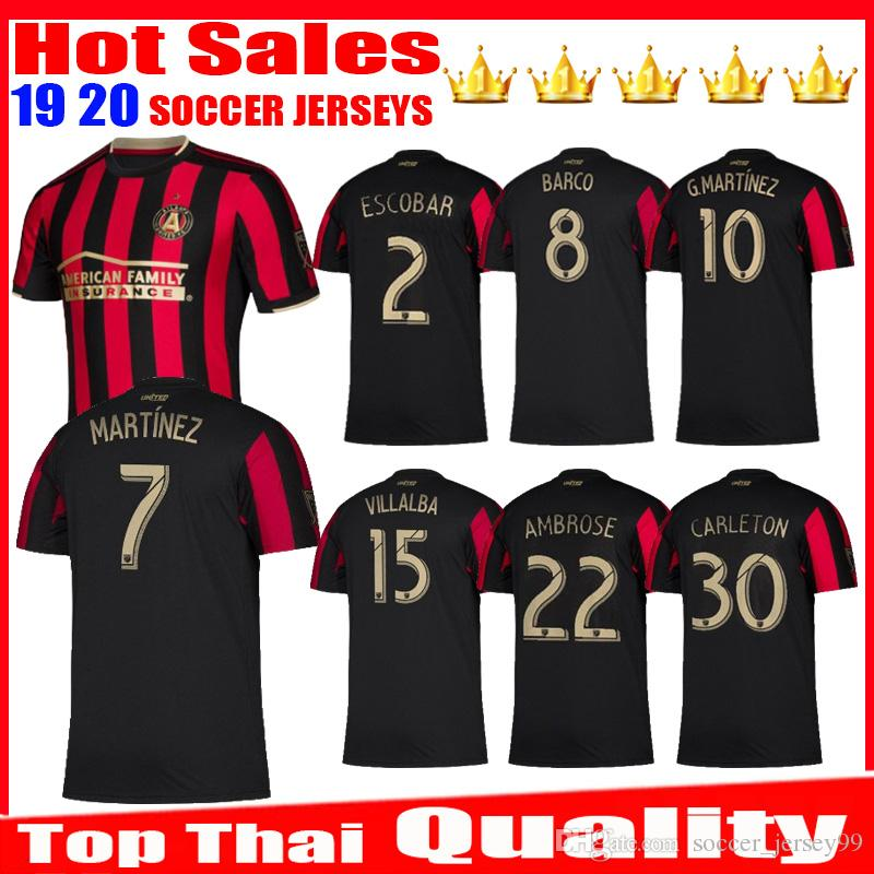 8dbb48feec7 2019 New 2019 2020 MLS Atlanta United FC Soccer Jersey 19 20 GARZA JONES  VILLALBA MCCANN MARTINEZ ALMIRON Jerseys Uniforms Football Shirts From ...