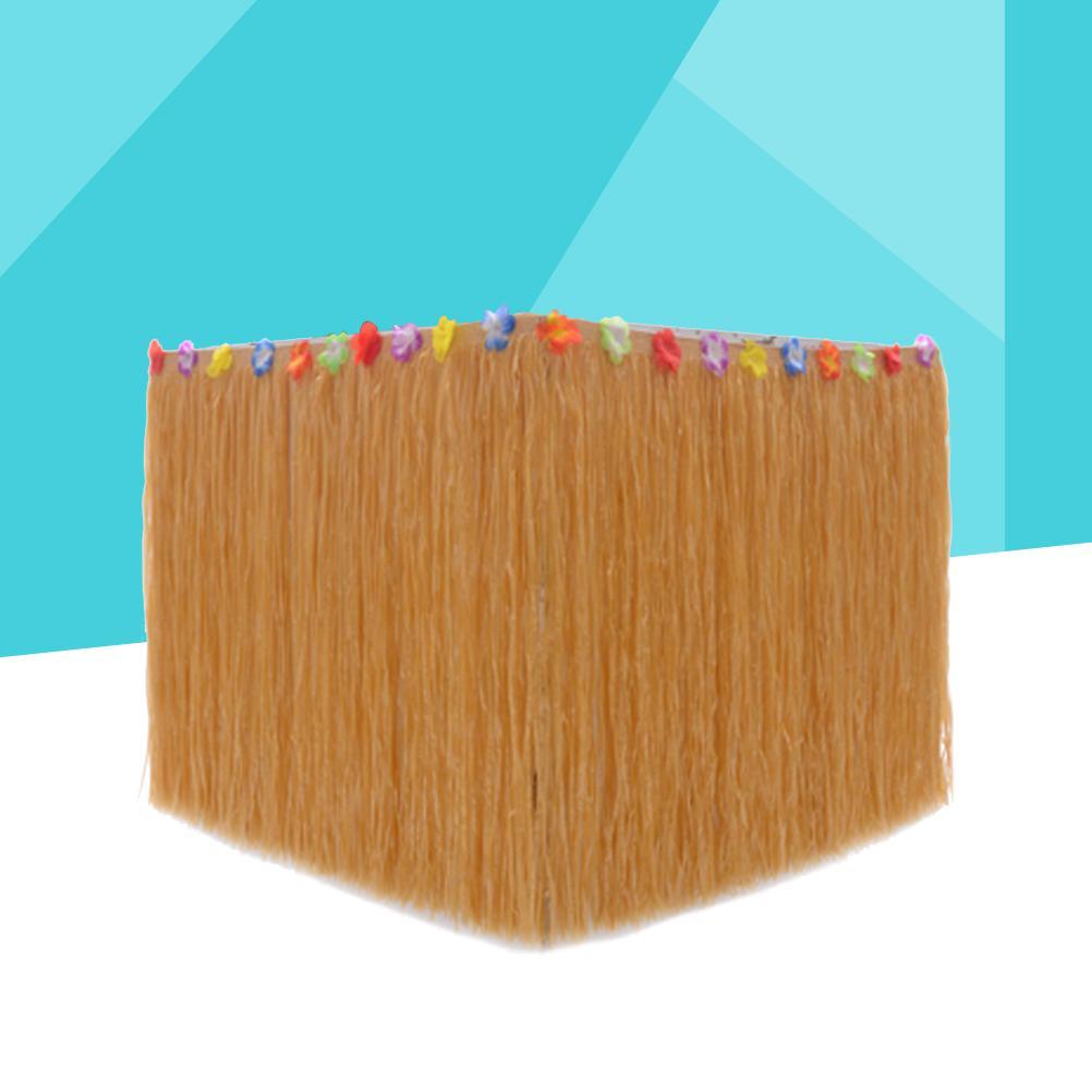 Hawaiian Party Table Skirt Plastic Desk Skirt for Luau Party Decoration 276x75CM Flower Design