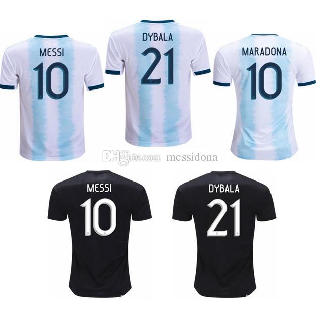 d13a2873a 2019 2019 2020 Argentina MESSI MARADONA DYBALA HIGUAIN KUN AGUERO DI MARIA  Soccer Jersey Football Shirt Kit Camiseta Futbol Maillot De Foot From  Messidona