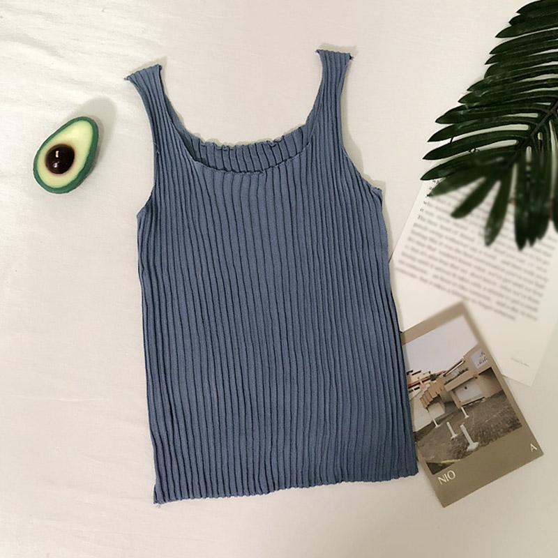 Women Summer Solid Color Cotton Camisole Sexy Sleeveless Camisoles Retro Casual Personality All-match Short Style Camisole Top