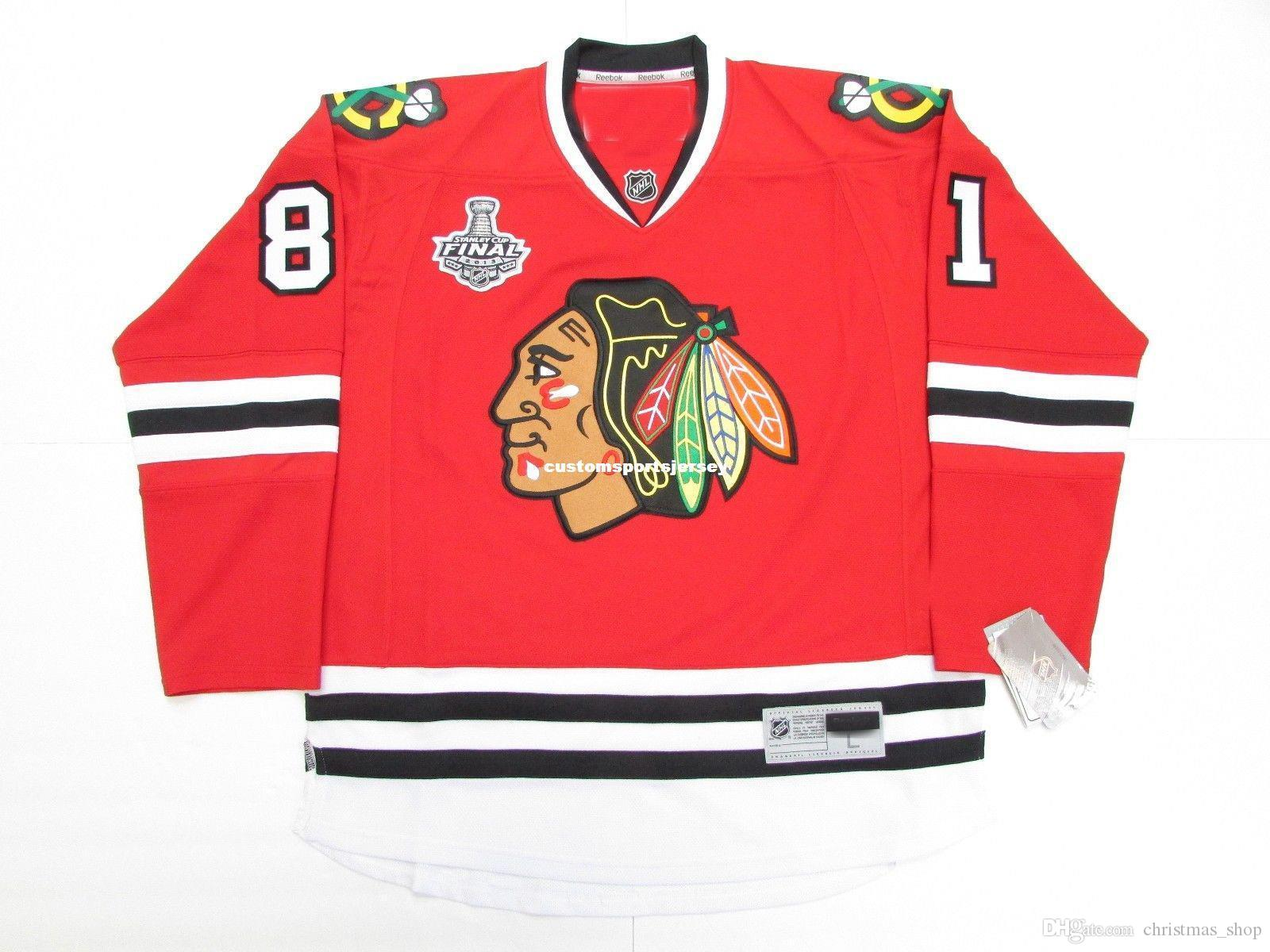 Cheap custom MARIAN HOSSA CHICAGO BLACKHAWKS 2013 STANLEY CUP FINAL HOCKEY JERSEY stitch add any number any name Mens Hockey Jersey XS-5XL