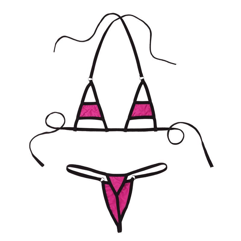 Multi color ver a través de Mini Micro Bikini traje de baño de la mujer Extrema caliente sexy lencería erótica conjunto de ropa interior ropa de dormir trajes