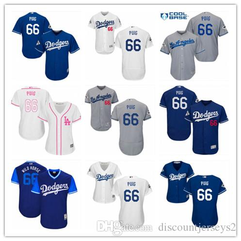 online retailer 3fd5c 45c9b 2019 top Dodgers Jerseys #66 Yasiel Puig Jerseys men#WOMEN#YOUTH#Men s  Baseball Jersey Majestic Stitched Professional sportswear