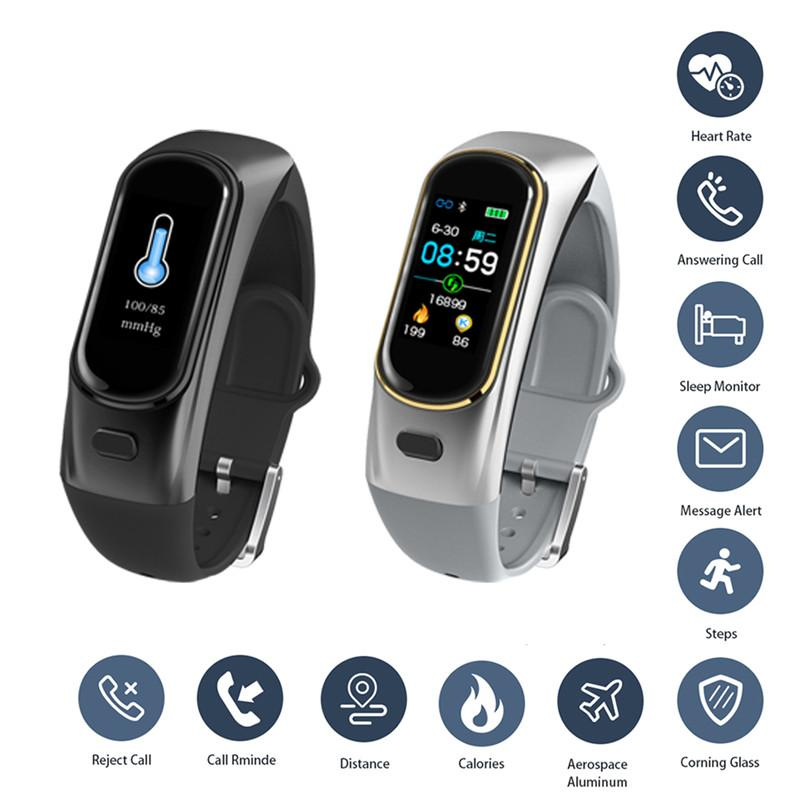 H109 Smart Bracelet Dial Call Bluetooth Headphones Wireless Earphones OLED Heart Rate Blood Pressure Oxygen Fitness Tracker Band