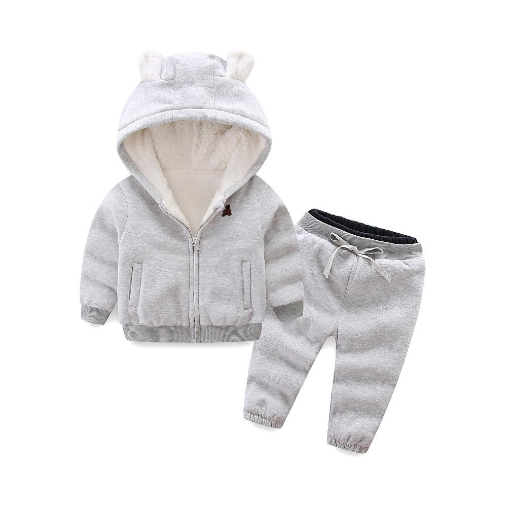 9011f7b7e96f Good Qulaity Infant Children Girl Clothing Set Winter Warm Toddler ...