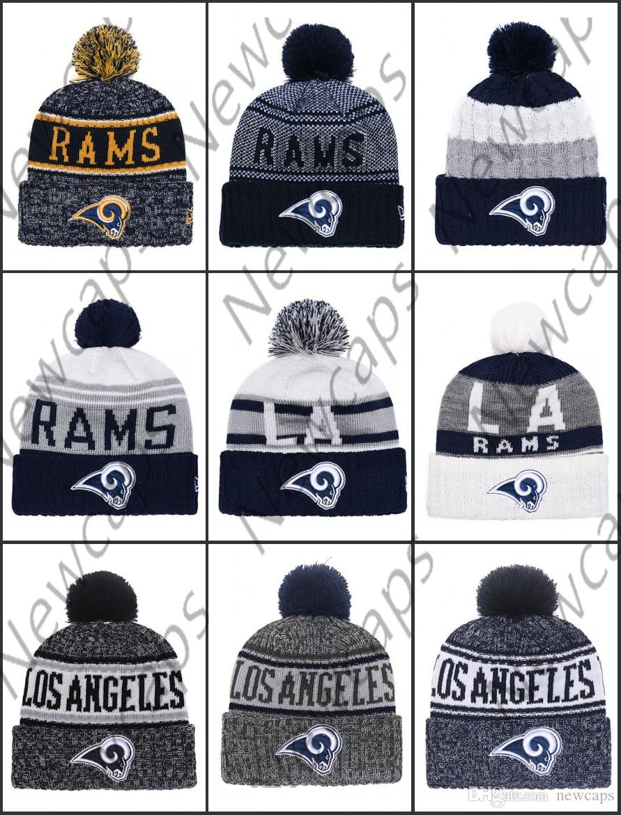 Wholesale Los Angeles Sport Winter Hats Rams Stitched Team Logo Brand Warm  Men Women Hot Sale Knitted Caps Cheap Mixed Beanies Cap Hat From Newcaps febedd527c2